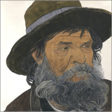 Premium poster Portrait of an old man