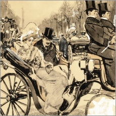 Canvas print  Carriage ride in the Berlin Tiergarten - Ernst Heilemann