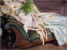 Premium poster  The Green Cushion - Irving Ramsay Wiles
