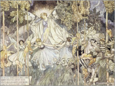 Wood print  Fairy Midsummer Night's Dream - Stephen Reid