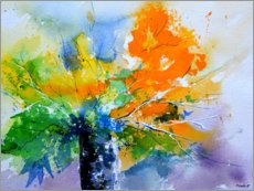 Acrylic print  Colorful, abstract bouquet - Pol Ledent