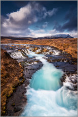 Canvas print  Bruarfoss waterfall on Iceland - Dennis Fischer