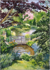 Wood print  Chinese Water Garden - Paul Simmons