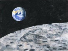 Foam board print  Earth seen from the moon - Jitka Krause