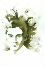 Premium poster Franz Kafka and father