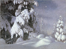 Wood  Winter Moonlight - Gustaf Edolf Fjaestad