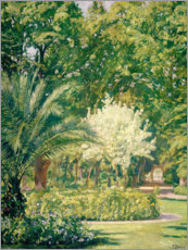 Canvas print  Bright green botanic garden - Francisco Llorens Diaz