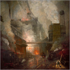 Canvas print  Blast furnace tapping in Hörde - Herman Heijenbrock