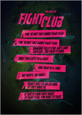 Wood print  Fight Club Rules - Nikita Abakumov