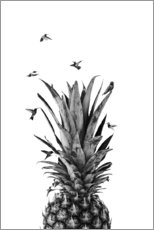 Premium poster  Pineapple birds - NiMadesign