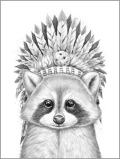 Gallery print  Raccoon chief - Nikita Korenkov