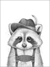 Canvas print  Raccoon from Bavaria - Nikita Korenkov