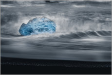 Foam board print  An iceberg in the waves - Simon J. Turnbull