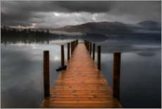 Wood print  Derwentwater Jetty in the Lake District - Simon J. Turnbull