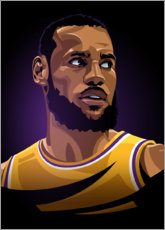 Wood print  LeBron James - Nikita Abakumov