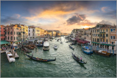 Premium poster Gondolas on the Grand Canal in Venice