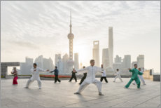 Wall Stickers  Tai Chi Chuan in Shanghai - Jan Christopher Becke