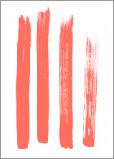 Wood  Brushstrokes in coral