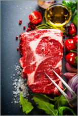 Acrylic print  Steak preparation