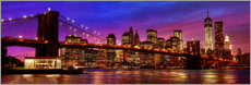 Acrylic glass  BROOKLYN - BRIDGE - Art Couture