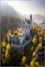 Premium poster Neuschwanstein Castle in autumn