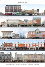 Premium poster  London's street fronts - PanoramaStreetline