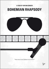 Premium poster No1038 My Bohemian Rhapsody minimal movie poster