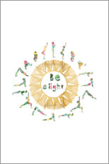 Gallery Print  Sun Salutation - GreenNest