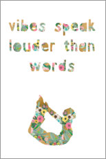 Canvas print  Vibes speak louder than words - GreenNest