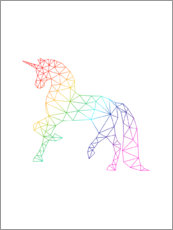 Canvas print  Unicorn Rainbow - Nouveau Prints