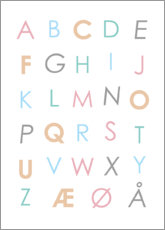 Acrylic glass  Scandinavian Alphabet Colourful - Typobox