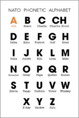 Canvas print  NATO phonetic alphabet - Typobox