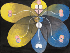 Wall sticker  Evolution, No. 9 - Hilma af Klint
