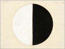 Wood print  No. 1. Starting Picture, Series II - Hilma af Klint