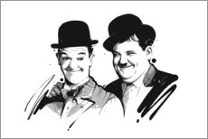 Wood print  Laurel and Hardy - Tompico