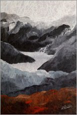 Acrylic glass  Energy of the mountains - Ruth Palmer