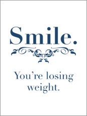 Canvas print  Smile. You're losing weight - Typobox