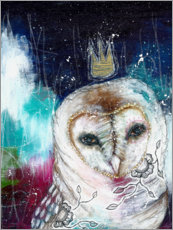 Acrylic glass  An owl story - Micki Wilde