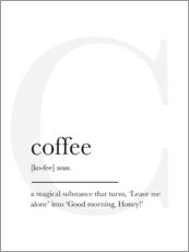 Acrylic print  Coffee Definition - Finlay and Noa
