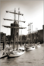 Wood print  Port of Hamburg - Carmen Varo