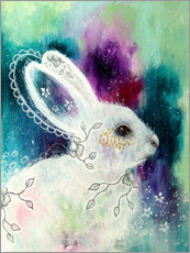 Poster Enchanted whisperings - whimsical rabbit