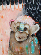 Acrylic print  Little chimp - Micki Wilde