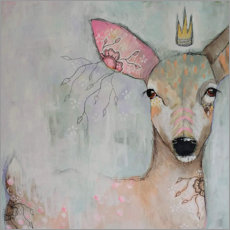 Premium poster Enchanted fawn
