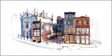 Wall sticker  Panorama of Porto - Anastasia Mamoshina