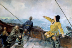 Gallery print  Leiv Eirikson discovering America - Christian Krohg