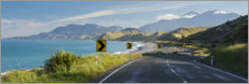 Premium poster Coastal road in New Zealand