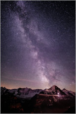 Aluminium print  Night in Grindelwald - Peter Wey