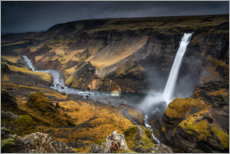 Premium poster Haifoss waterfall on Iceland