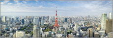 Premium poster Tokyo Skyline with Tokyo Tower