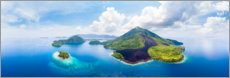 Foam board print  Banda Islands in the Moluccas archipelago - Fabio Lamanna